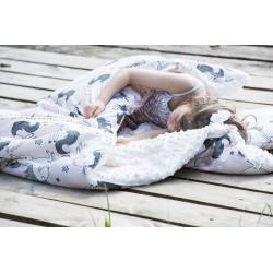 KID KIT: Kocyk i bed pillow by Maja Bohosiewicz Unicorn Sugar Bebe Ecru La Millou