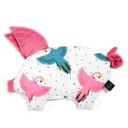 Poduszka świnka La Millou Velvet Collection Candy Parrot Florida Pink