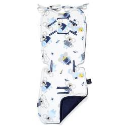 Stroller Pad La Millou THICK Velvet Collection La Millou Hello World Royal Navy