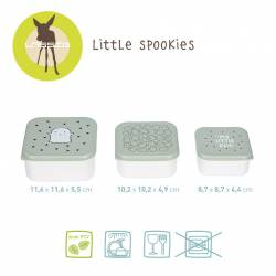 Lassig Snackbox Little Spookies olive