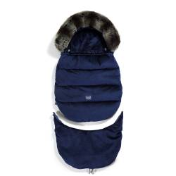 Śpiworek do wózka VELVET COLLECTION ASPEN WINTERPROOF ROYAL NAVY La Millou