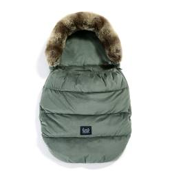 Śpiworek do wózka VELVET COLLECTION ASPEN WINTERPROOF KHAKI La Millou