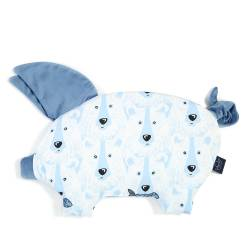 Poduszka świnka La Millou Velvet Collection Arctic Bear Family Denim