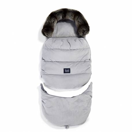 VELVET COLLECTION - ASPEN WINTERPROOF STROLLER BAG COMBO - DARK GREY LA MILLOU