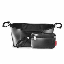 Organizer do wózka Black/White Stripe SKIP HOP
