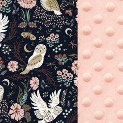 Apaszka La Millou MAGIC OWL - POWDER PINK