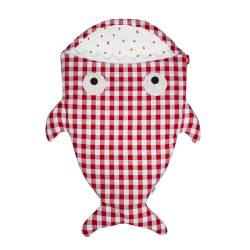 Baby Bites Śpiworek light Shark (1-18 m) Red Vichy