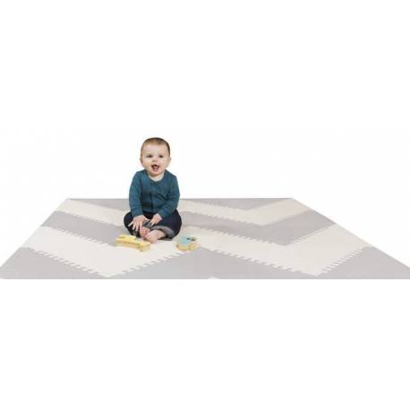 Mata piankowa Playspot Grey/Cream Geo Skip Hop