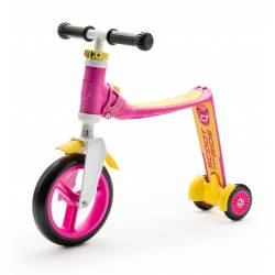 Highwaybaby Plus 2w1 hulajnoga i rowerek Pink 1+ Scootandride