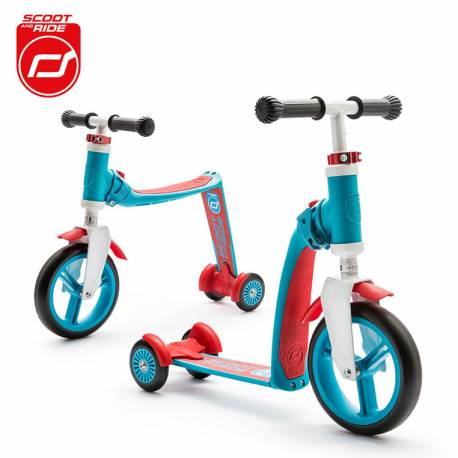 Highwaybaby Plus 2w1 hulajnoga i rowerek Blue 1+ Scootandride
