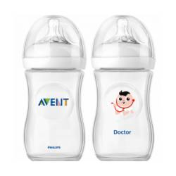 Zestaw: Butelka Natural 260 ml Avent Philips + butelka 260 ml Doktor