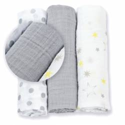 Mini pieluszki LULUJO Calming Grey
