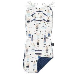 Thick Stroller Pad La Millou Circus Strongman Navy